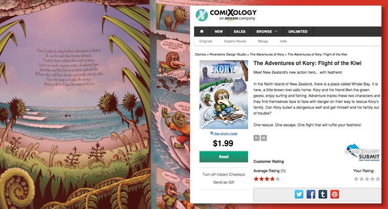 Kory - Flight of the Kiwi - Comixology - Purchase the eBook