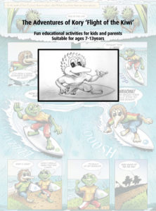 Kory - Flight of the Kiwi - Online Resources - Downloadable activities - Fun educational activities for kids and parents