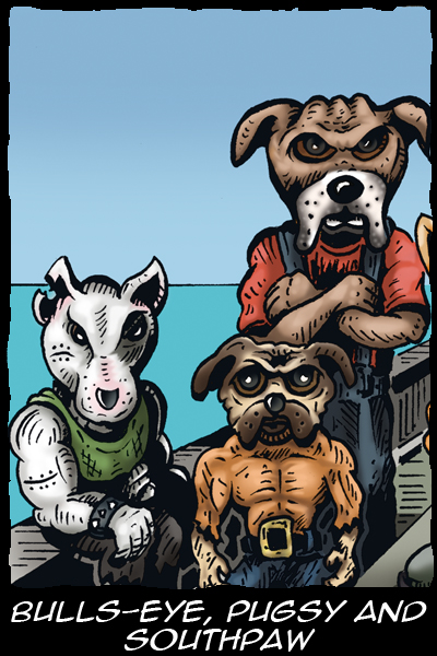 Kory - Flight of the Kiwi - Characters - Bulls Eye, Pugsy, Southpaw
