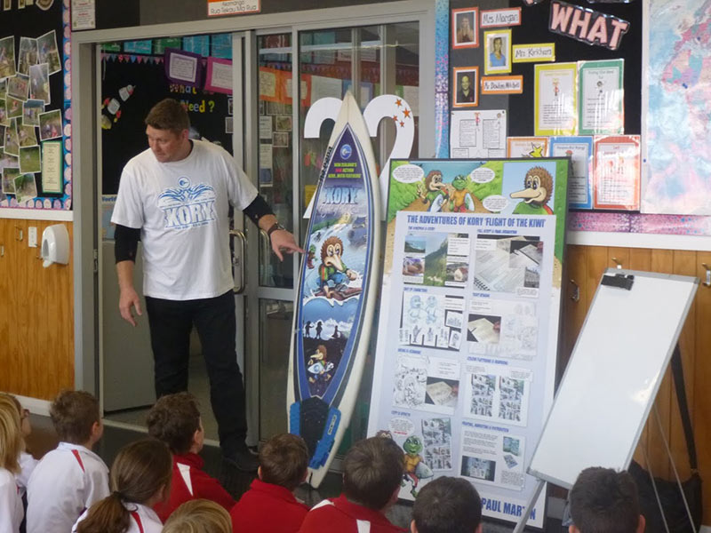 Kory - Flight of the Kiwi - Te Totara Primary School Visit